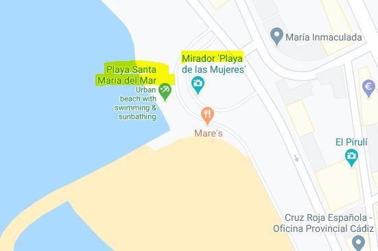 captura mapa ruta bici cadiz punto partida