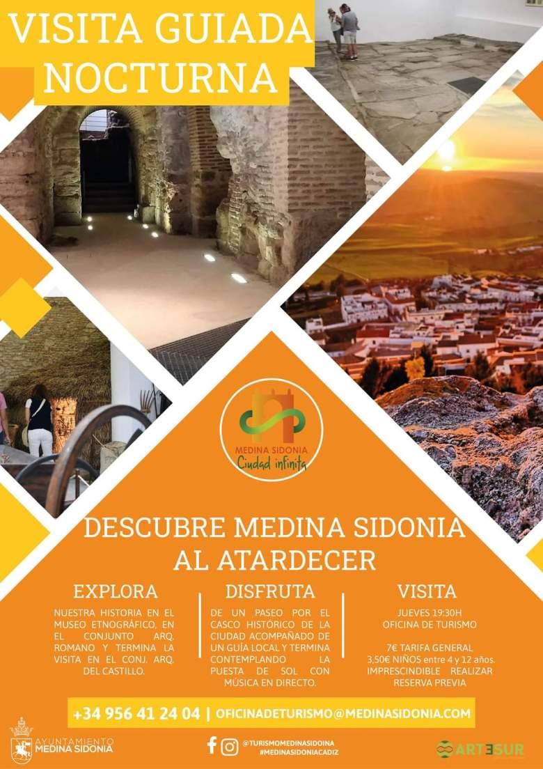 visitas turisticas nocturnas medina sidonia verano 2021