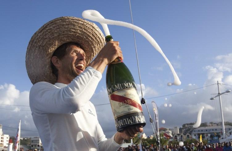 Victoire d'Erwan Tabarly, sur Armor Lux-Comptoir de la Mer dans la Transat Bretagne-Martinique