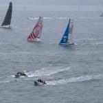 start of the Transat Jacques Vabre in Le Havre (North France) on November 07, 2013 -