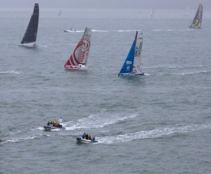 start of the Transat Jacques Vabre in Le Havre (North France) on November 07, 2013 -