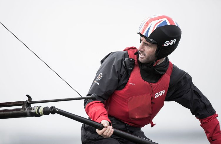 Pictures of the Ben Ainslie Racing americas cup team out in action today on their new T1 foiling catamaran