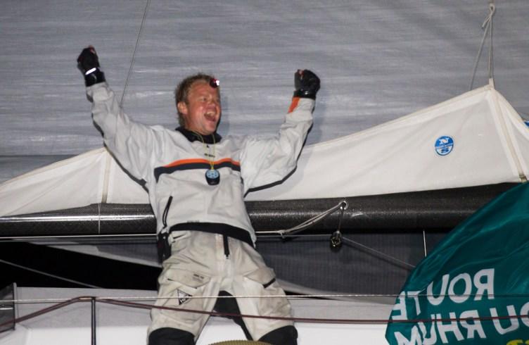 Course au Large - Route du Rhum 2014 - Alex Pella (Tales-Santander) vainqueur de la categorie Classe40 sur la Route du Rhum-Destination Guadeloupe 2014 - Pointe a Pitre le 19/11/2014