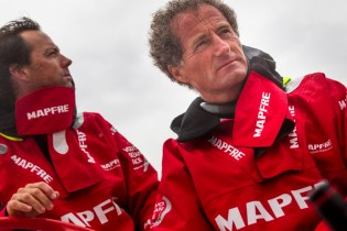 October 1, 2014. MAPFRE training in Alicante. Michel Desjoyeaux Iker Martinez