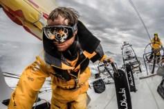 2014-15, Abu Dhabi Ocean Racing, Leg5, OBR, VOR, Volvo Ocean Race, onboard, Luke Parkinson, goggles, pedestal