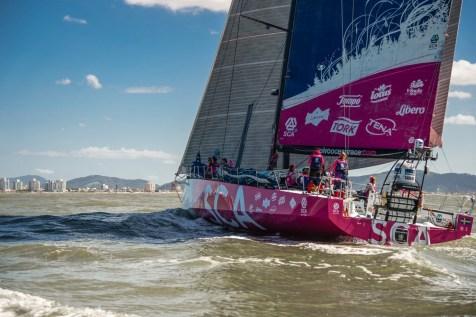 2014-15, Brazil, Itajai, Leg5, RIB, Sailing, Team SCA, VO65, VOR, Volvo Ocean Race, arrivals