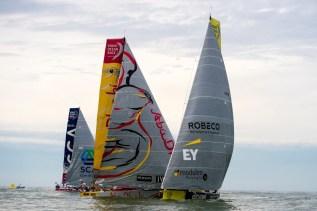 Volvo Ocean Race, VOR, 2014-15, InPort Race, Team Brunel, Abu Dhabi Ocean Racing, Team SCA