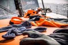 Volvo Ocean Race, VOR, 2014-15, Team Alvimedica, onboard, OBR, Leg5, clothes, socks