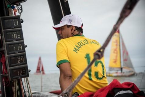 2014-15, Dongfeng Race Team, Leg6, OBR, VOR, Volvo Ocean Race, onboard, VVIP, Marcio Santos, soccer, leg jumper