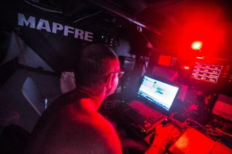 2014 - 15, Jean Luc Nelias, Leg6, MAPFRE, OBR, VOR, Volvo Ocean Race, onboard, navigator, nav, navigation, dark, red