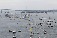 2014-15, Inport, Newport, Sailing, VOR, Village, Volvo Ocean Race, aerial, fleet
