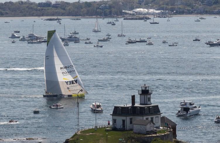 2014-15, VOR, Volvo Ocean Race, Race, Leg 7, Start, Newport, USA, Team Brunel