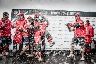 Volvo Ocean Race, VOR, 2014-15, Team Vestas Wind InPort Race, stage, celebration