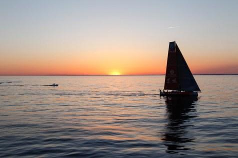 2014-15, VO65, VOR, Volvo Ocean Race, Leg6, sailing, RIB, Arrivals, Newport, sunset, Dongfeng Race Team