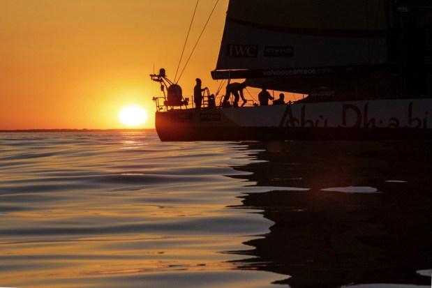 VOR, Volvo Ocean Race, 2014-15, Newport, arrivals, aerial, Abu Dhabi Ocean Racing