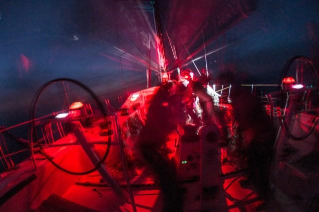 2014-15, ACTION, LEGS, Leg 6, OBR, Team SCA, VOR, Volvo Ocean Race, gybe, onboard, night, red lights