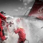 2014-15, Dongfeng Race Team, Leg7, OBR, VOR, Volvo Ocean Race, onboard, Charles Caudrelier, splash, Jiru Yang, Wolf, wet