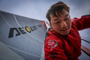 2014-15, Dongfeng Race Team, Leg7, OBR, VOR, Volvo Ocean Race, onboard, Jin Hao Chen, Horace, face