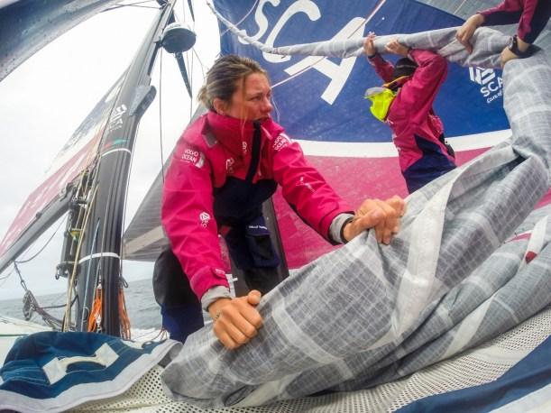 2014-15, Leg 7, OBR, Team SCA, VOR, Volvo Ocean Race, onboard, bow, stack, Gopro