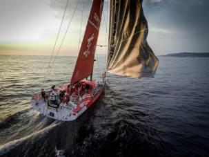 2014-15, Dongfeng Race Team, Leg8, OBR, VOR, Volvo Ocean Race, Yann Riou, onboard, GoPro, Drone, sailing, coast, tack