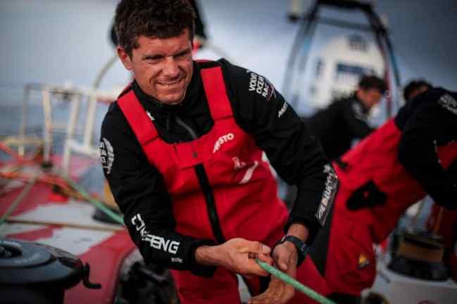 2014-15, Dongfeng Race Team, Leg8, OBR, VOR, Volvo Ocean Race, Yann Riou, onboard, Thomas Rouxel, trim
