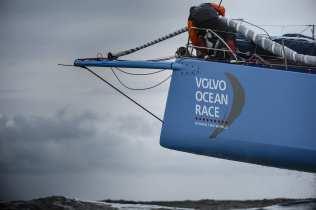 2014-15, VOR, Volvo Ocean Race, Team Alvimedica, Crowd, night, Team Vestas Wind, Simeon Tienpont, bow