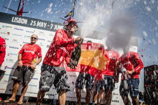 2014-15, VOR, Volvo Ocean Race, MAPFRE, win, Inport, Lisbon