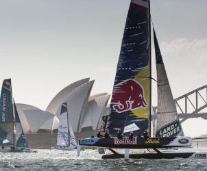 The Extreme Sailing Series 2015, Sydney, Austrailia, Sydney Harbour, Sydney Opera House, Multihull, Catamaran, Sailing, Yacht Racing, Act 8, Day 1