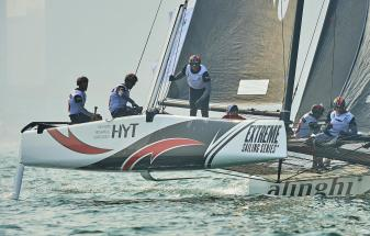GC32, Foiling Catamaran, Qingdao, China, The Extreme Sailing Series, Mutrah