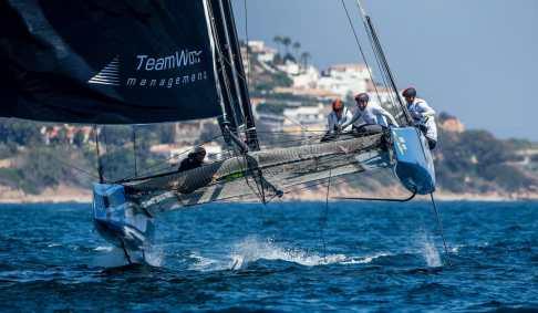 GC 32, GC 32 Racing Tour, GC 32 SOTOGRANDE, Jerome Clerc Denis Girardet Remi Aeschimann Thierry Wasem Loic Forestier, Multihull, REALTEAM, Sotogrande, catamarans, foil