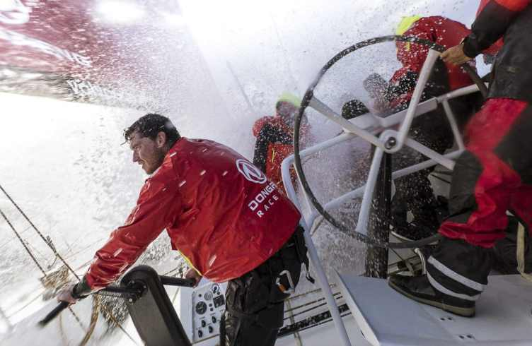 Dongfeng Race Team goes sailing in their re-fitted Volvo Ocean 6