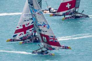 2017, 35th America's Cup Bermuda 2017, AC35, Sailing, Bermuda, Aeriall, RD2, Day2, Team BDA, Team Tilt, Switzerland, Land Rover BAR Academy, Great Britain