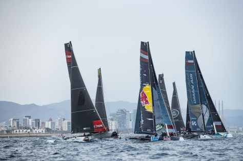 ESS, The Extreme Sailing Series 2017, Mutihull, GC32, Foiling Yacht, Sailing, Foiling, Barcelona, Spain, Yacht Racing, Day4, Flett