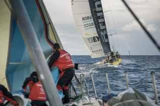 2017-18, Fastnet Rock, Kind of picture, Leg Zero, On board, On-board, Pre-race, Rolex Fastnet Race, Team Brunel, Vestas 11th Hour Racing, boat to boat
