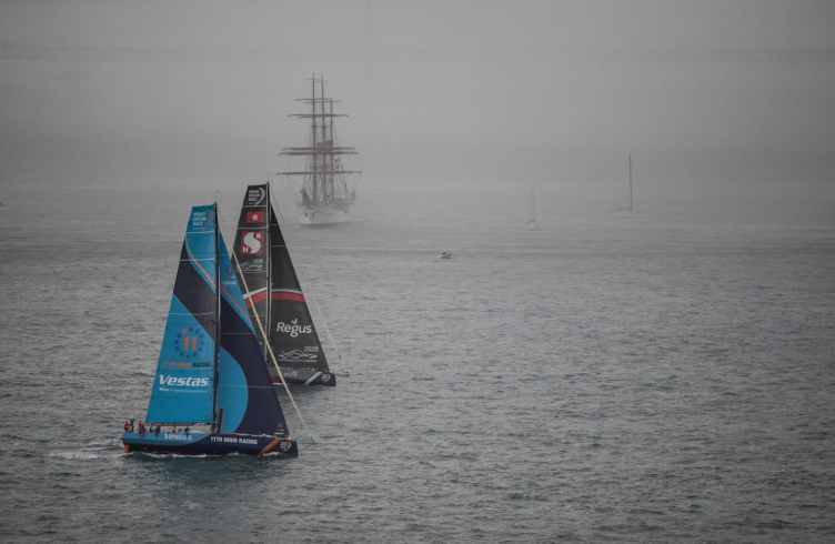 Aerial,Portugal,Lisbon,2017-18,port, host city,Vestas 11th hour Racing,Team Sun Hung Kai/Scallywag,Kind of picture, The Mirpuri Foundation In-Port Race