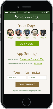 walk for a dog app