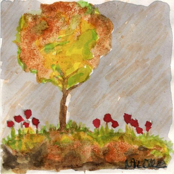 dessin arbre pigments naturels
