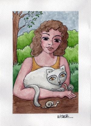 chat escargot femme