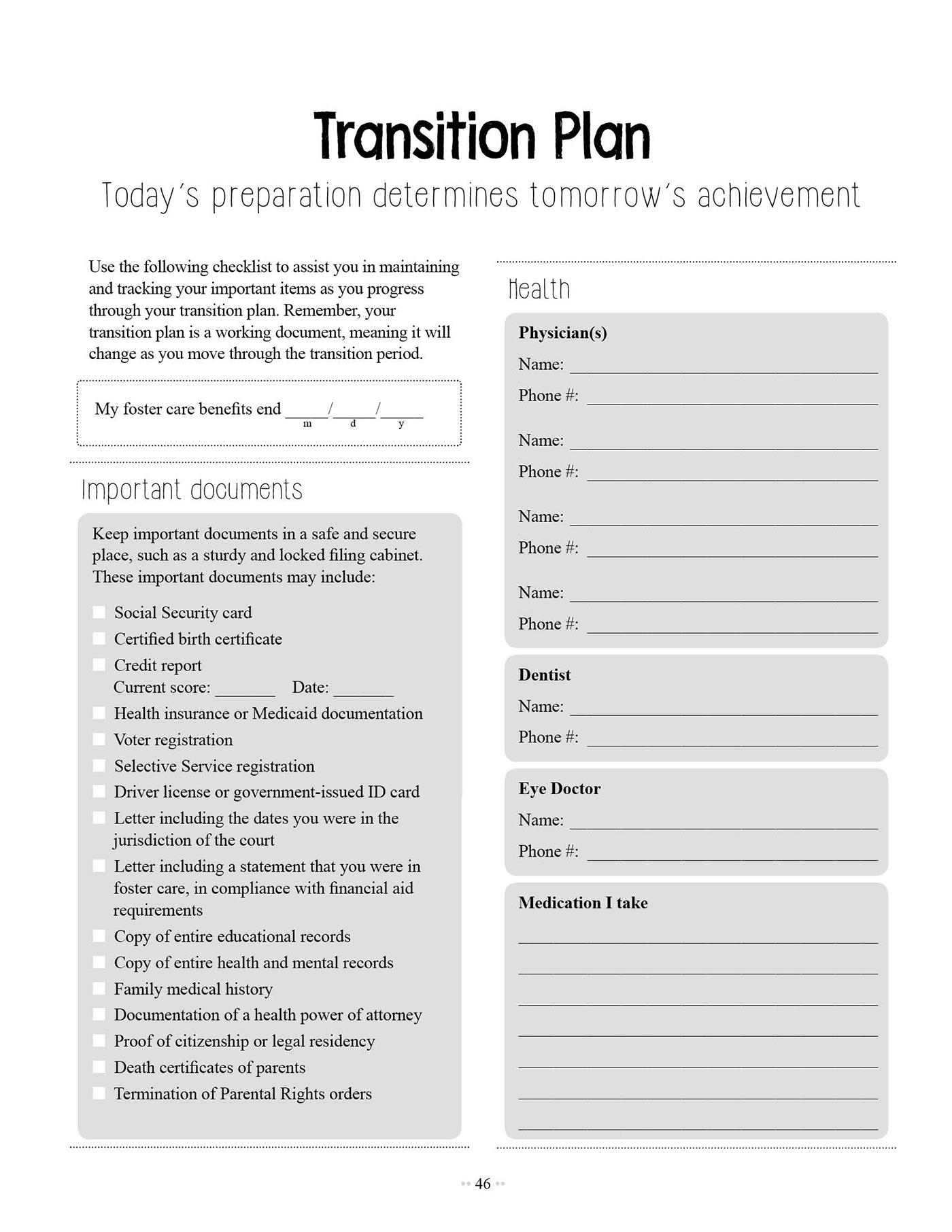 Adoption Worksheet