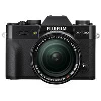 Fujifilm Fujifilm X-T20 Mirrorless Digital Camera Body, with XF 18-55mm F2.8-4 R LM OIS Lens, Black