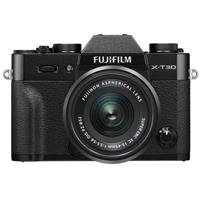Fujifilm X-T30 Mirrorless Camera with XC 15-45mm f/3.5-5.6 OIS PZ Lens - Black