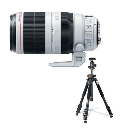 EF 100-400mm f/4.5-5.6L IS II USM (Image Stabilized) Zoom Lens - U.S.A. - Bundle With Vang