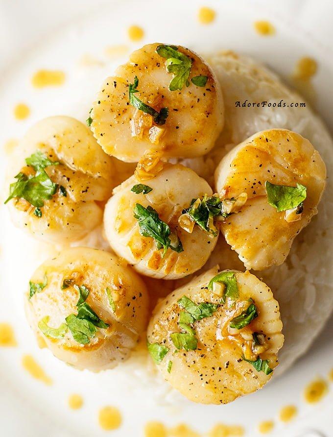 Portuguese Scallops recipe