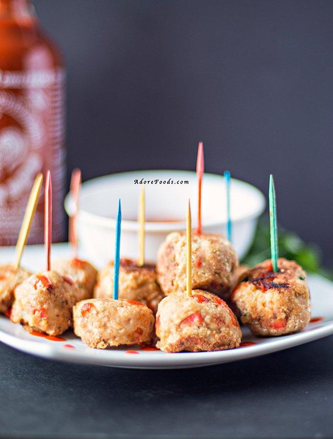 Sriracha Chicken Balls