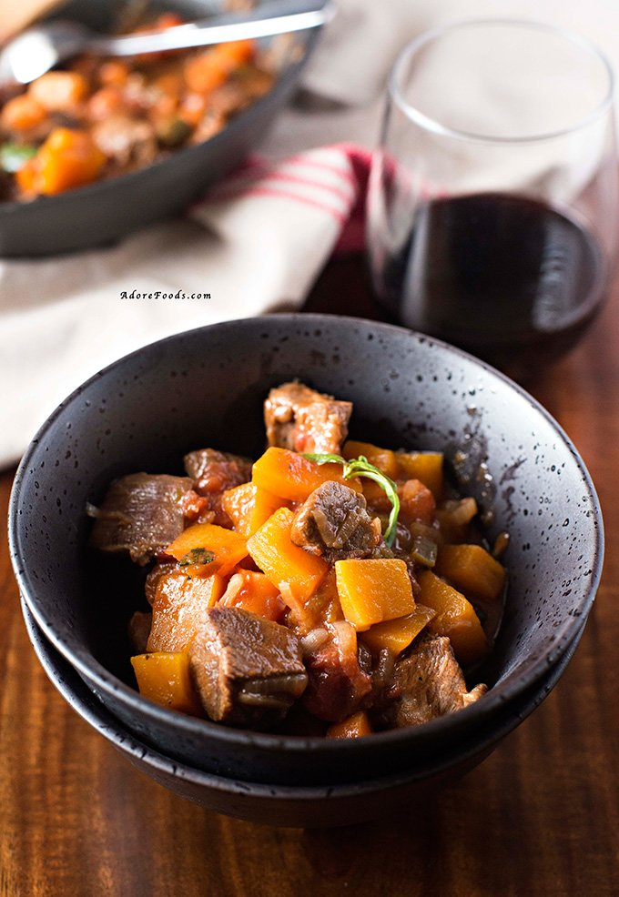 Vietnamese one pot beef and pumpkin stew