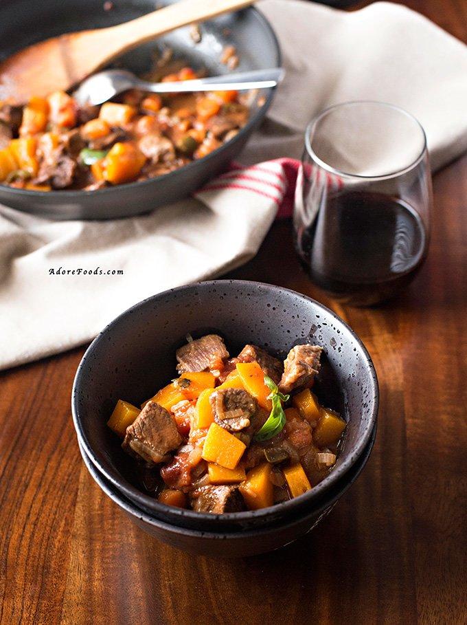 Vietnamese one pot beef and pumpkin stew