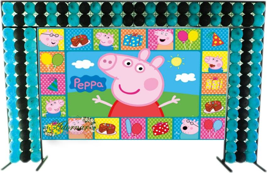 aluguel decoração peppa pig tema completo