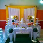 Decoração de Casamento e Noivado Amarelo e Laranja