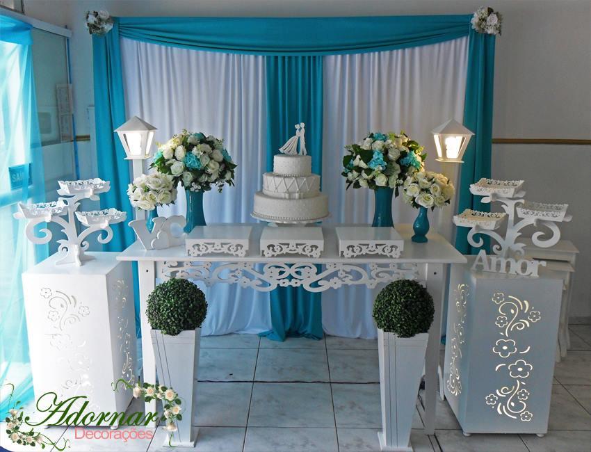 Decoração Casamento Azul Tiffany e Branco
