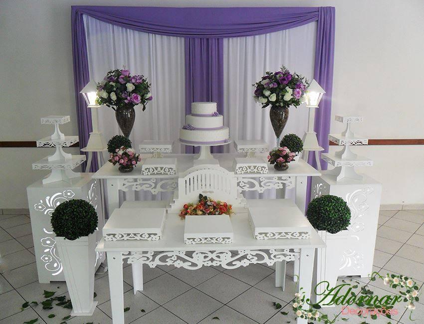 Decoração Casamento Lilás e Branco